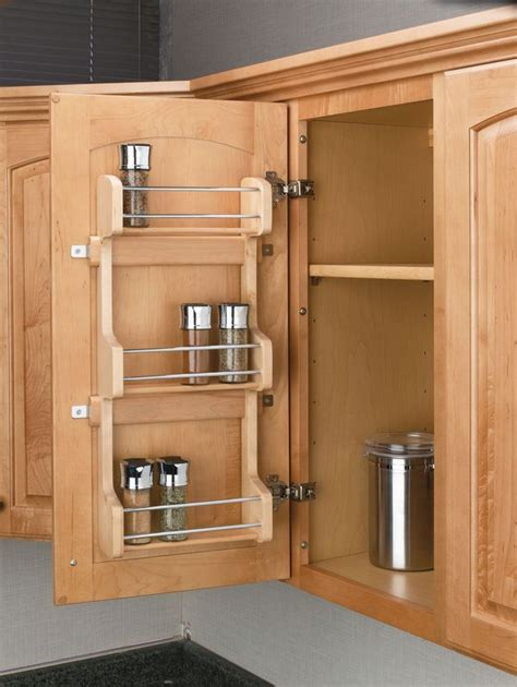 Door Mounted Spice Racks For Cabinets Rev A Shelf 4sr 15 Wood 4sr Series Door Mount Spice Rack For 15 Quot Wall Cabinet