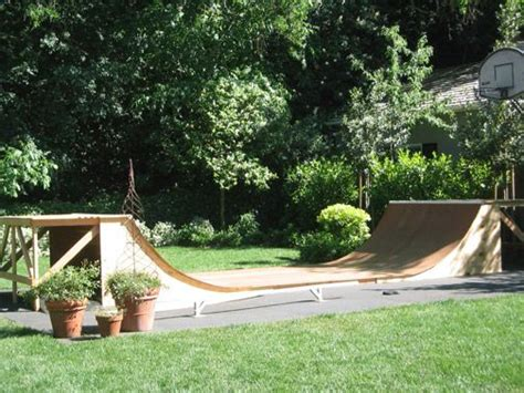 halfpipe in backyard with a skateboarding r in my back yard for brandon