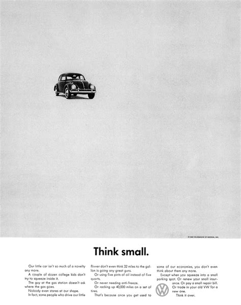 Pin Think Small Vw On