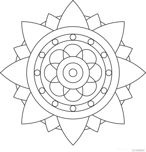 coloringcastle com mandala coloring pages html easy mandalas kids coloring
