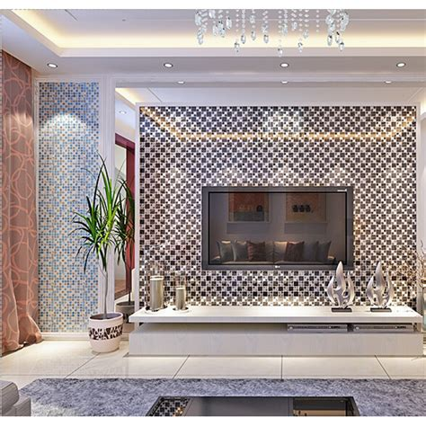 Mosaic Tiles Bathroom Ideas Silver Stainless Steel Black Crystal Glass Tile Backsplash