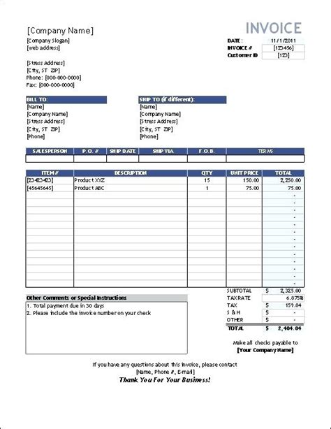 mobile invoice template sales invoice template word free