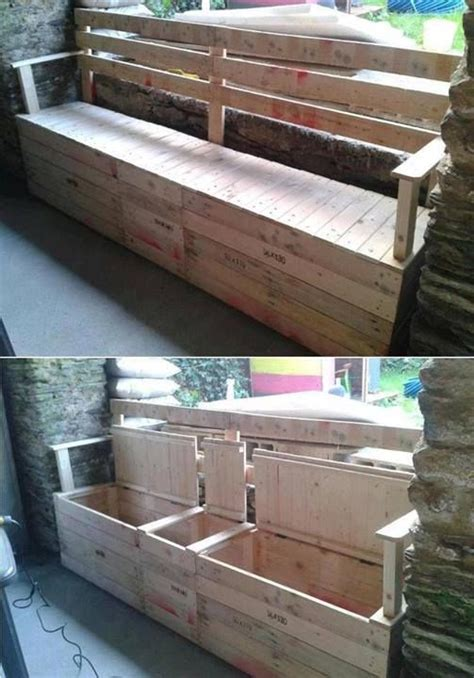 bench made from pallets storage bench made from pallets pallets crates boxes and the like