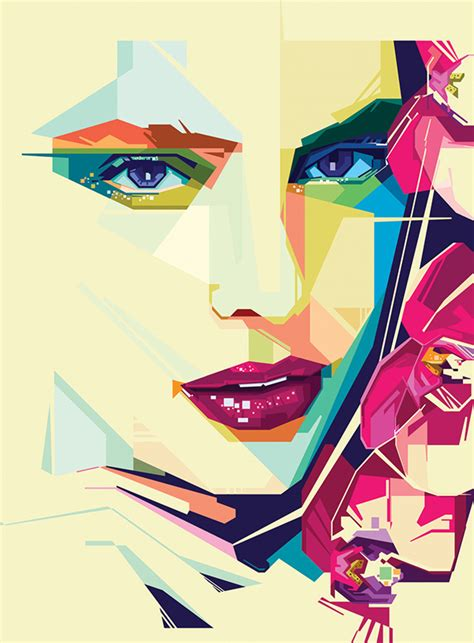 geometric beauty portraits  behance