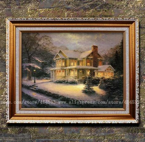 home interiors kinkade prints landscape painting modern wall painting home decor framed prints