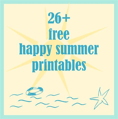 free printable gift tags summer over 26 free happy summer printables summertime