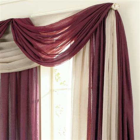 hanging curtain scarves scarf valance house ideas pinterest scarf valance