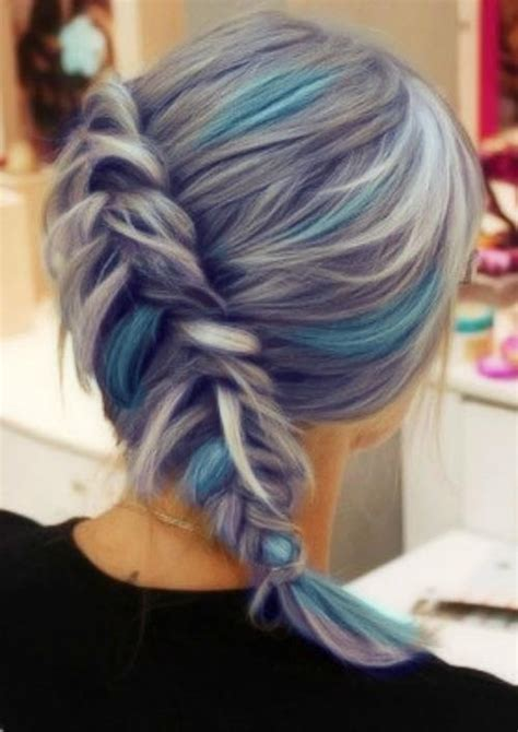 hair colors for 60 gray blue gray and blue hair hair color pinterest