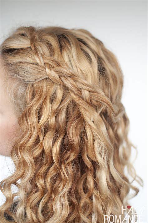 hair up curly hairstyles an easy half up braid tutorial for curly hair hair romance