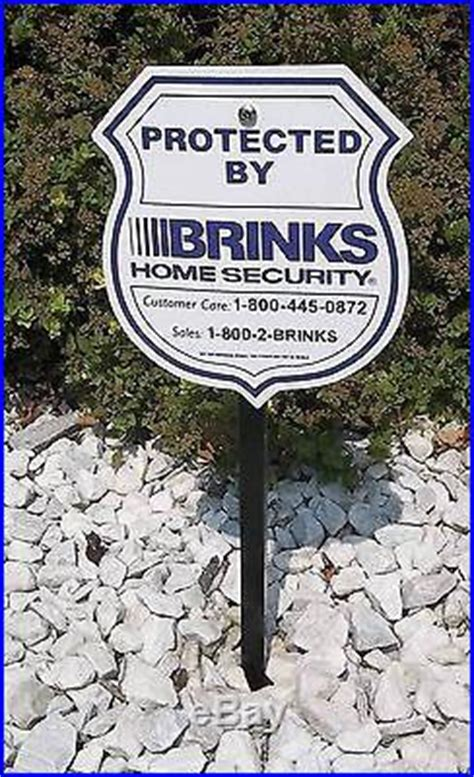 4 brinks adt home security system yard signs and metal