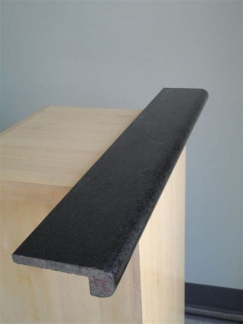 Absolute Black Granite Bullnose Piece   Lazy Granite in