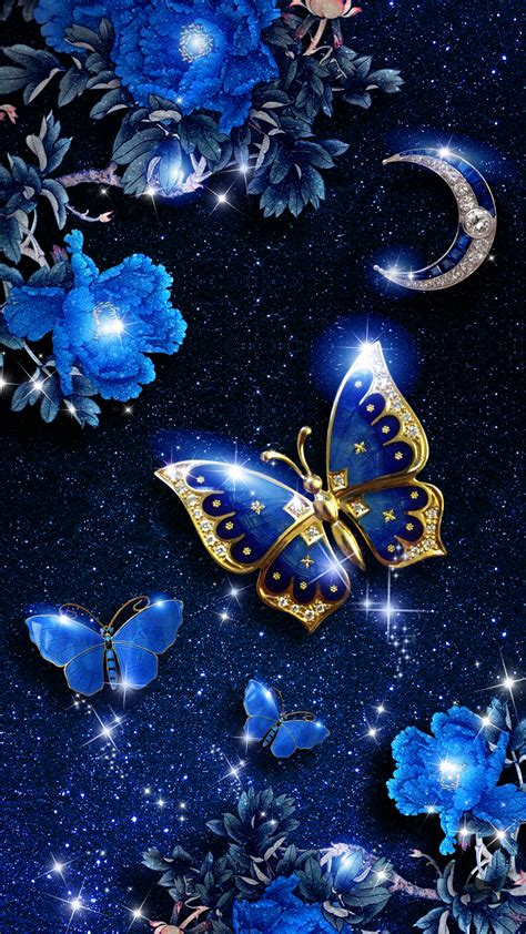 wallpaper android elegant elegant blue butterfly live wallpaper android live