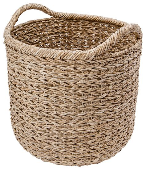 Decorative Basket by Kouboo Large Handwoven Decorative Storage Basket In