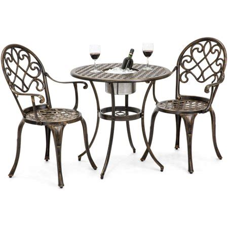 Lawn Chair With Table Attached - best choice products cast aluminum patio bistro table set