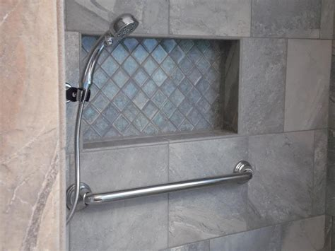 Glass Backsplashes For Kitchens by Building A Niche Into Your Tile Shower