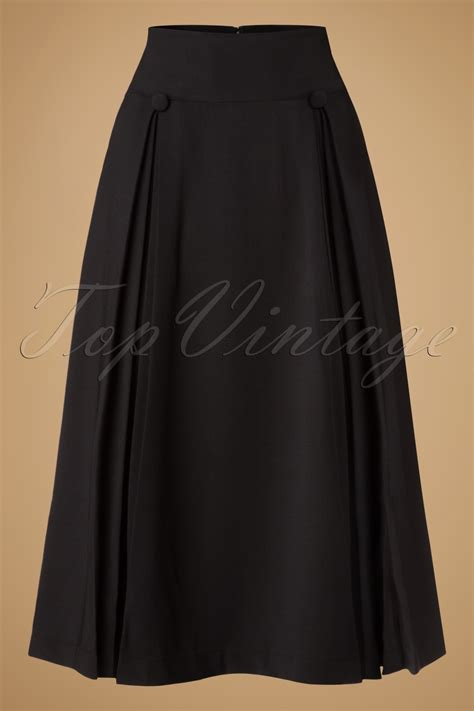 50s swing skirt 50s kennedy swing skirt in black