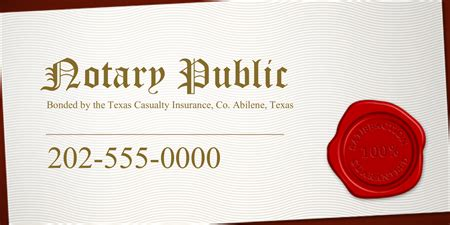 notary business cards templates local notary business card signazon