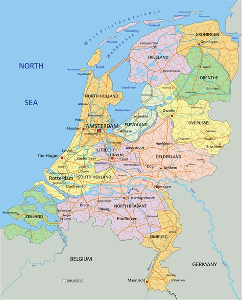 netherlands map of world netherlands map guide of the world