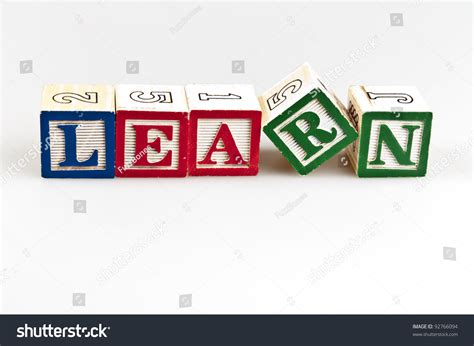 4 Letter Words Made From Learn learn word made by letter blocks stock photo 92766094