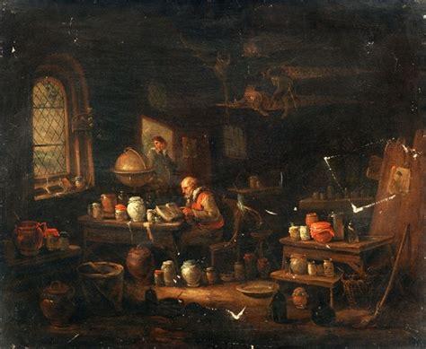 alchemical laboratories paintings    centuries