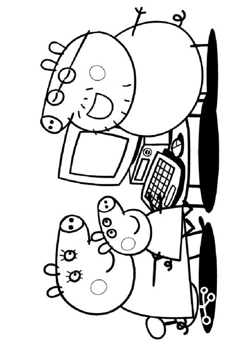 daddy pig coloring page peppa pig coloring pages coloringpagesabc com