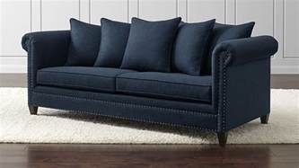 best crate and barrel sofa durham navy blue with nailheads crate and barrel