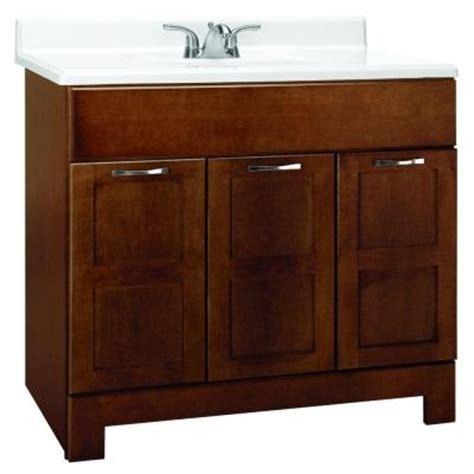 Glacier Bay Bathroom Cabinets Glacier Bay Casual 36 In W X 21 In D X 33 5 In H Vanity Cabinet Only In Cognac Caco36y The