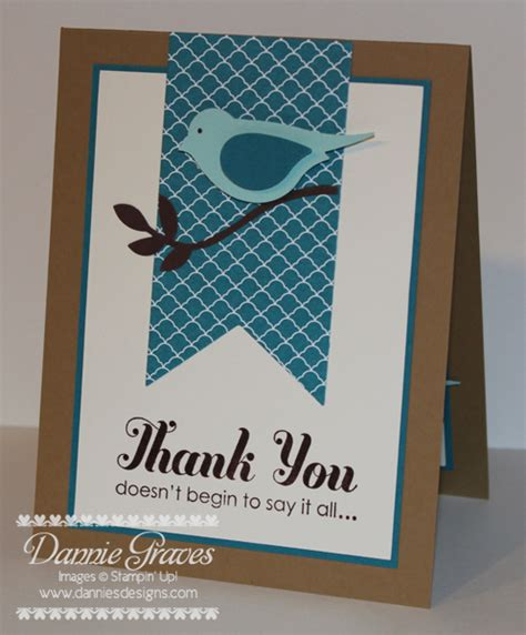 Stin Up Masculine Thank You Cards