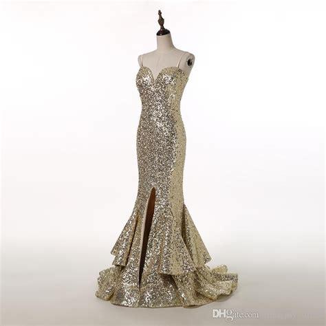Mermaid Blingbling Size S Dan M new bling bling sequined mermaid evening dress spaghetti straps front slit floor length