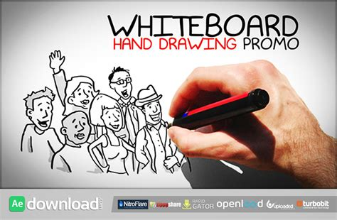 Whiteboard Hand Drawing Promo Free Download Videohive Template Free After Effects Template Whiteboard After Effects Template