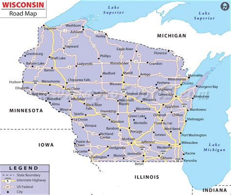 map usa wisconsin united states map map of usa