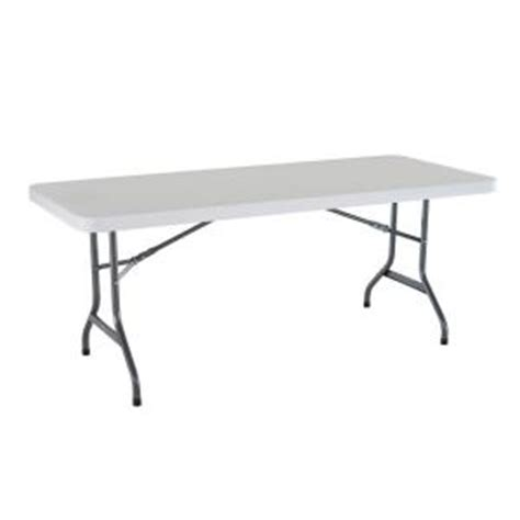 lifetime 6 ft granite folding utility table in white
