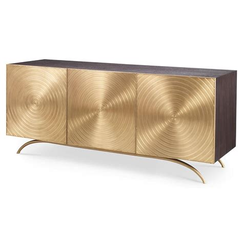 Mid Century Modern Dining Room Table Val Modern Regency Gold Sideboard Cabinet Kathy Kuo Home