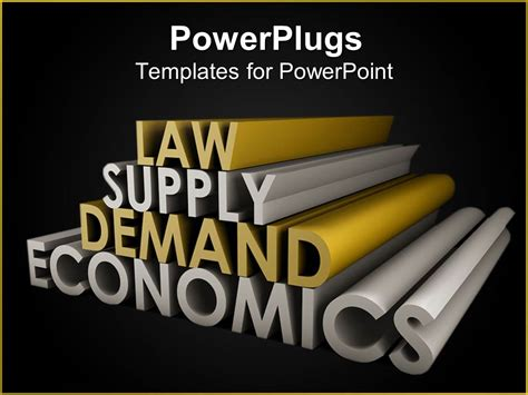 ppt templates for economics powerpoint template law supply demand economics in gold
