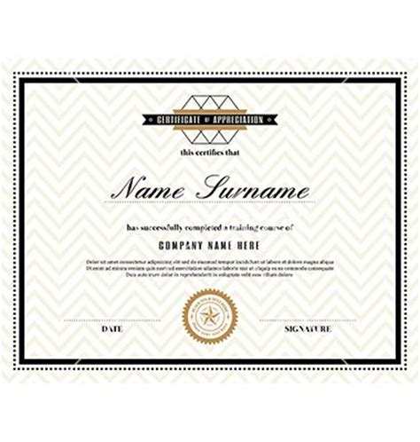 cool certificate templates retro frame certificate design template vector by kraphix