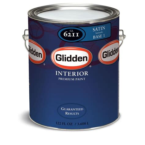 glidden paint glidden premium 1 gal satin interior paint gln6212 01 the home depot