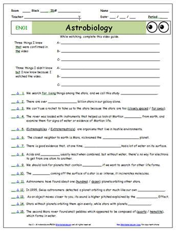 Starmaterials Com Free Eyes Of Nye Video Worksheets And
