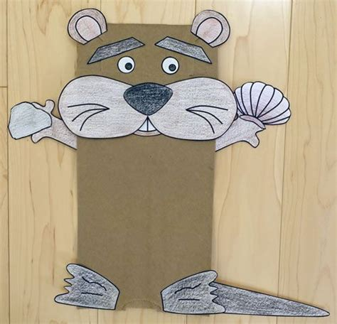 paper bag crafts for preschool paper bag otter craft baby sitting otters