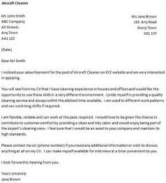 cover letter for a aircraft cleaner icover org uk