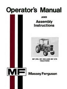 massey ferguson mf 255 mf 265 and mf 275 tractors