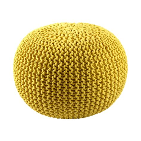 yellow pouf ottoman shop st croix trading casual yellow pouf ottoman at lowes com