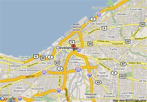 downtown cleveland map map of garden inn cleveland downtown cleveland