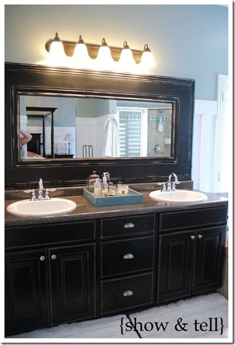 How To Frame Bathroom Mirrors Diy Glued On Mirror Makeover A Bathroom Renovation On A Budget Kid Friendly Things To Do