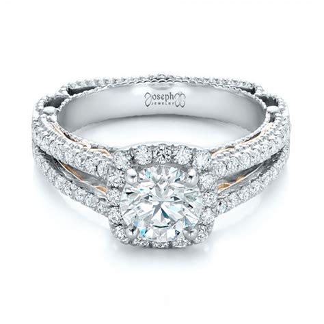Custom Two Tone Diamond Engagement Ring #102127