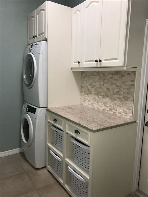 Storage Solutions For Small Laundry Rooms 25 Best Stacked Washer Dryer Ideas On Pinterest