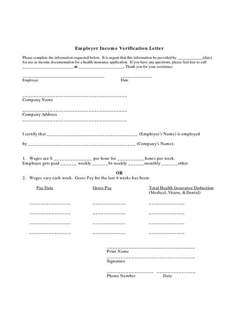 Employment Verification Letter Sle For Apartment Exle Employment Verification Letter Income Printables
