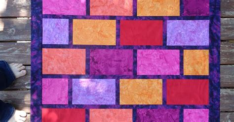 adventurous applique and quilting brick wall pattern