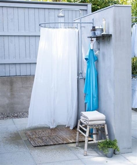 outdoor shower pole pin by burk on home sweet home