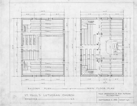 Floor Plans Old St Paul S Lutheran Church Catawba Antique House Plans By Dudley Newton