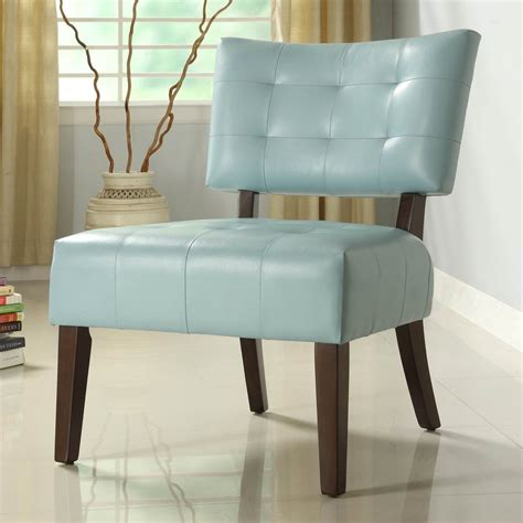 sky blue chair shop homelegance warner modern sky blue vinyl accent chair